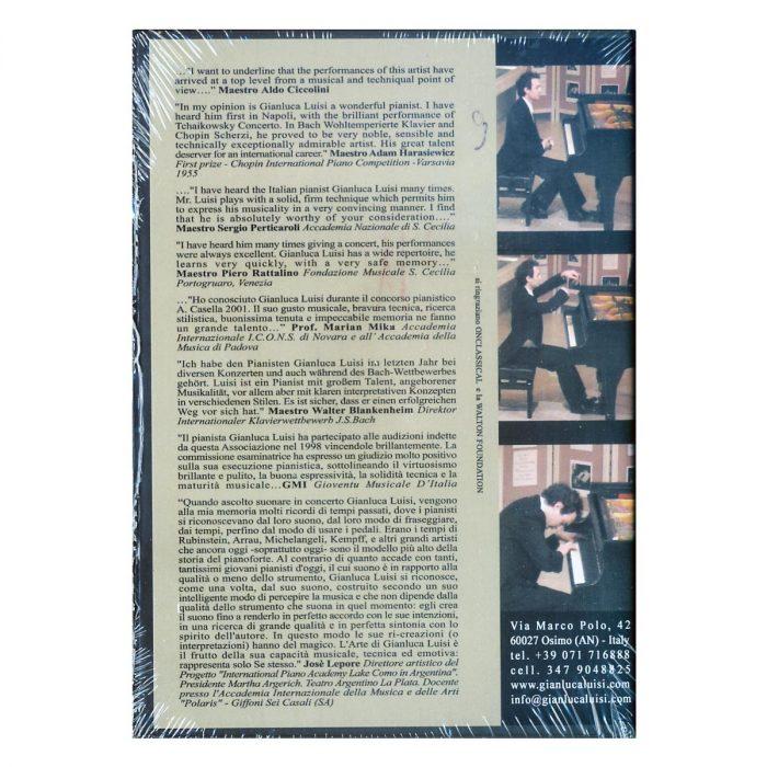 Dvd Gianluca Luisi copertina retro
